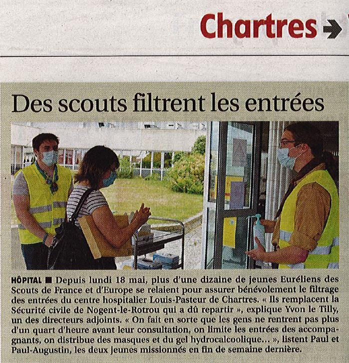 Les Guides et Scouts d'Europe de Chartres au service de l'hôpital Louis Pasteur